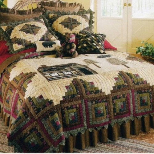 39 best Northwoods Quilts and Bedding images on Pinterest | Bear ... : northwoods quilt - Adamdwight.com