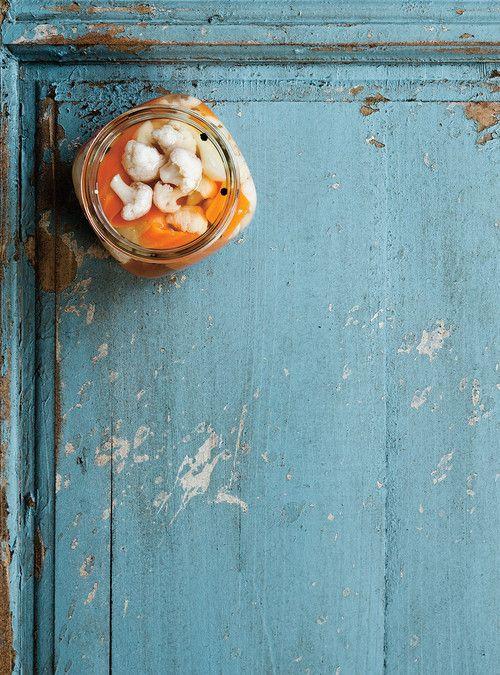 Chou-fleur et carottes marinés