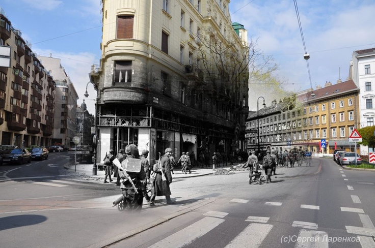 Infuse in Vienna, where the infantry units of yesteryear march ghostlike to the normal roads that the free citizens of today enjoy.: World War Ii, History, Photos, Picture, Wwii, Sergey Larenkov, Photography