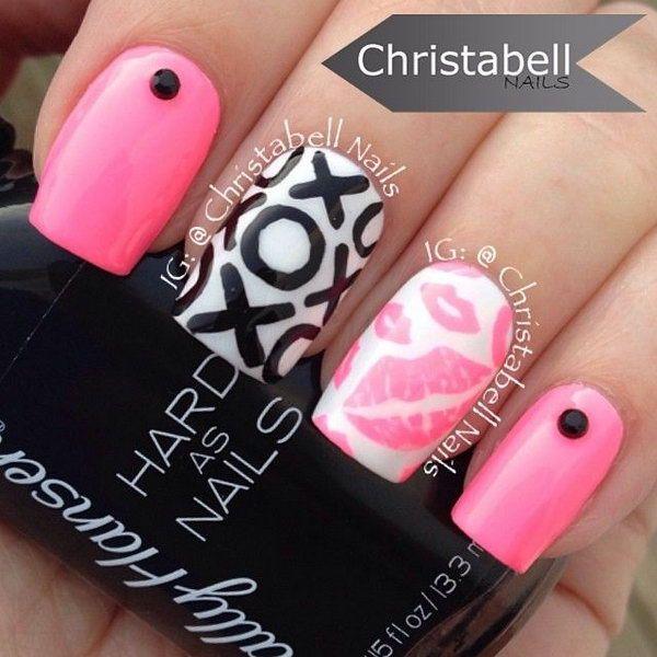 Best 25 kiss nails ideas on pinterest gel nails gel nail sweet kiss nail art designs prinsesfo Images
