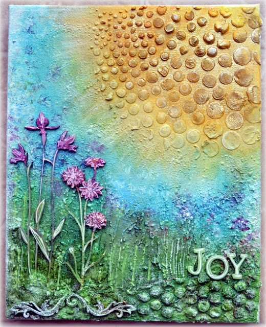 Kelly Foster: All The Pretty Things: Joy - canvas - Blue Fern Studios