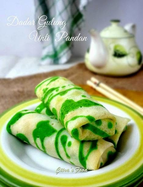 Citra's Home Diary: Dadar Gulung Unti Pandan (Indonesian style roll pancake with Coconut pandan filling)