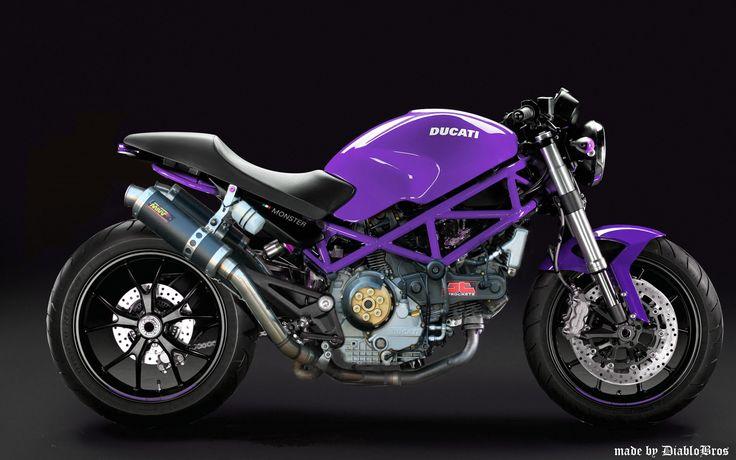 my proto ducati monster 695 tune by DiabloBros violet