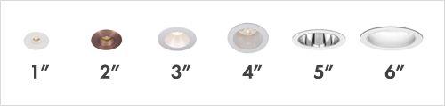 Spots de embutir - Diferentes tamanhos. (Trim Sizes)