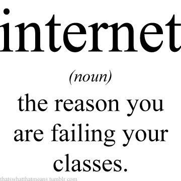 the reason I don't do my best: pinterest, online shopping, Facebook twitter ..