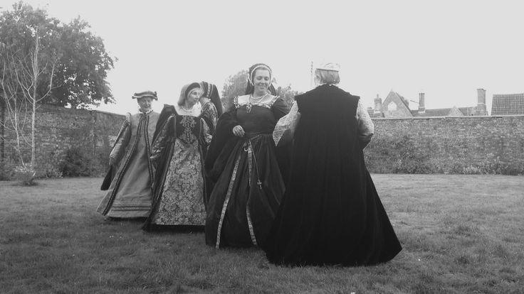 A Tudor reenactment group perform at Berkeley Castle, Gloucestershire, England.