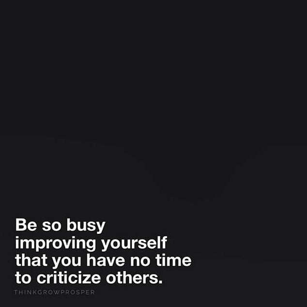 Be so busy