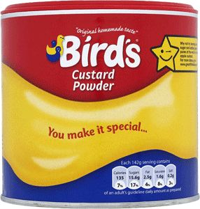 Food Ireland Birds Custard Drum 300g (10.6oz)