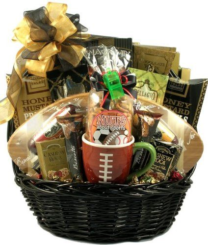 Sunday Football Favorites Deluxe Football Gift Basket - http://www.specialdaysgift.com/sunday-football-favorites-deluxe-football-gift-basket/
