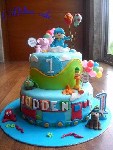 Pocoyo birthday cake by Delines cake