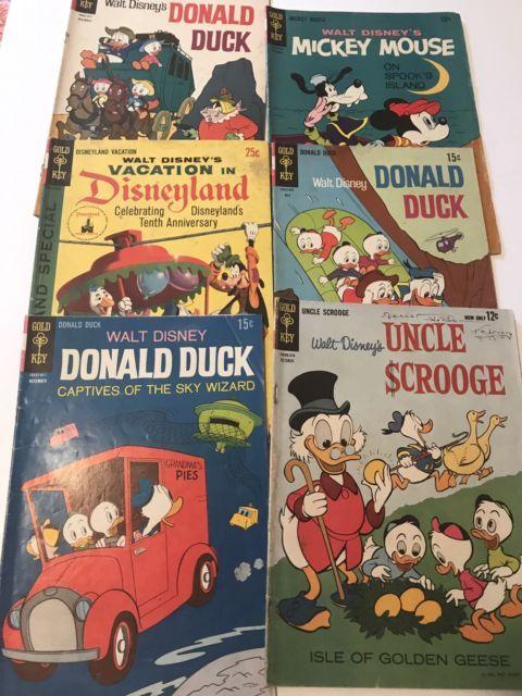 Disney Comic Book Lot Donald Duck Scrooge Mickey Mouse Disneyland Anniversary | eBay