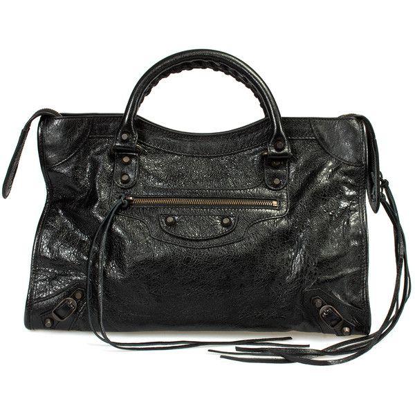 Balenciaga Classic City Lambskin Bag ($1,220) ❤ liked on Polyvore featuring bags, handbags, balenciaga classic city, black, collections, zip top utility tote, city tote bag, zip tote bag, zipper purse and balenciaga handbags