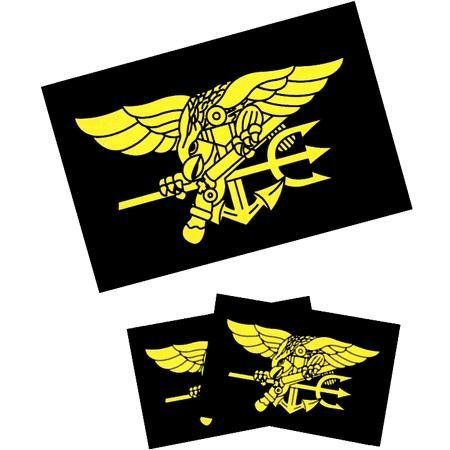 Navy Seal Trident Tattoos by Innovative Ideas. $1.50. Temporary Tattoo. 4x7. Chrome. In Stock. Express yourself with temporary tattoos. These Navy Seals Trident Flag temporary tattoos apply easily and are safe and non-toxic. They are made with FDA approved inks and last for days. There are 3 tattoos -- 1 is 2.75x1.75 inches are 2 are 1.75x1.25 inches. Sizes are approximate.. Save 50% Off!