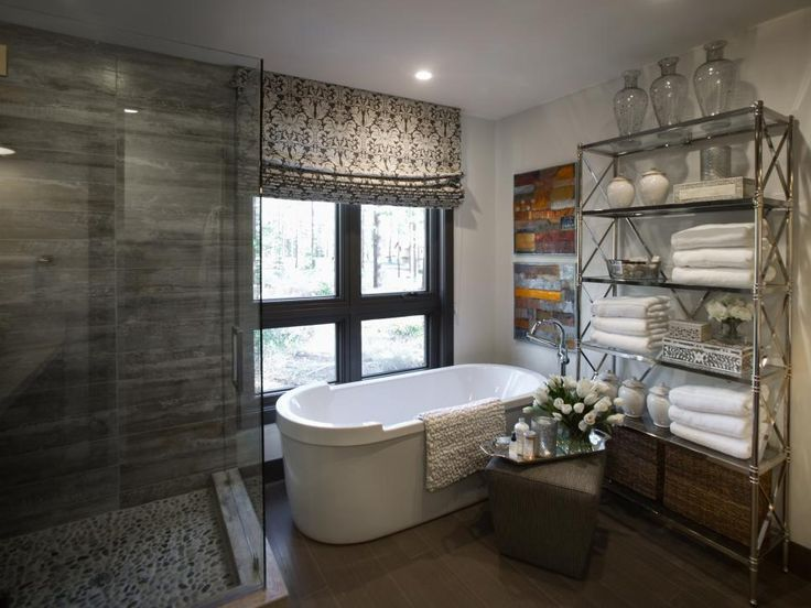 Designed To Bring The Outdoors In, The Luxurious Master Bathroom At HGTV  Dream Home 2014