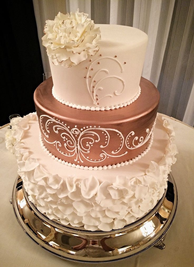 rose gold wedding cake the 25 best rosegold wedding cake ideas on 7119
