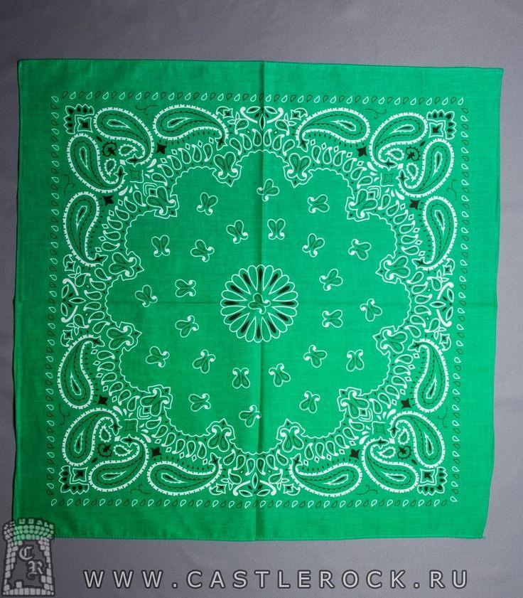 Бандана Классика зеленая (огурцы белые с черным)