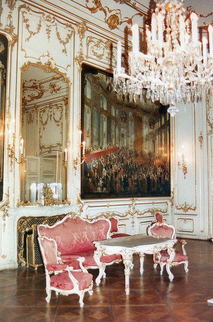 Vienna Schönbrunn Palace Interior, Austria. This is definitely Rococo!!