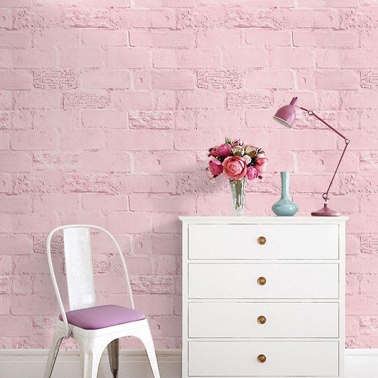 Self-adhesive anti-3D stereoscopic white brick wallpaper Modern alphabet waterproof wall paste bedroom dormitory wallpaper-442z #Affiliate