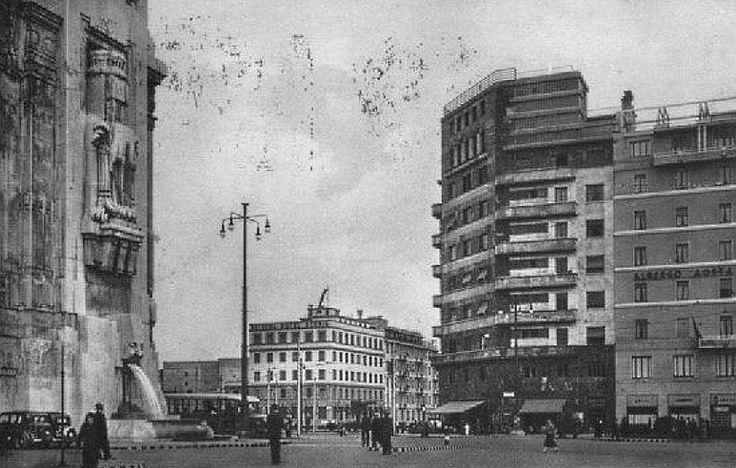 Scorcio della stazione Centrale da piazza Duca d'Aosta su piazza Luigi di Savoia e via Andrea Doria | da Milàn l'era inscì