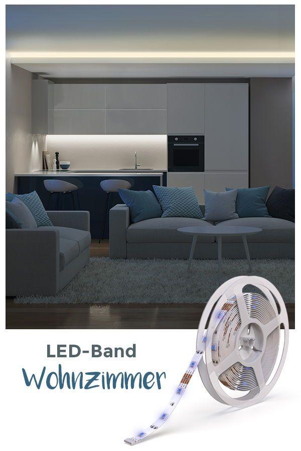 Indirektes Licht Lasst Dein Wohnzimmer Erstrahlen Bring Farbe Ins Spiel 5m Led Lichtband 1cm Breit 150 Leds Farbe Einste Led Lichtleiste Led Led Lichtband