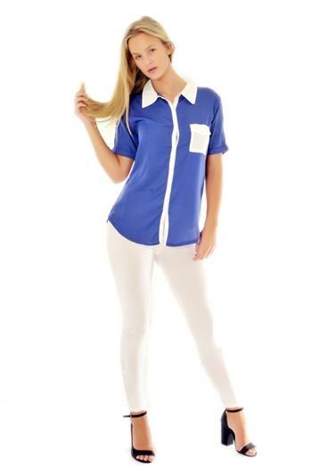 Beyaz Cepli Mavi Gömlek http://modabenle.com/beyaz-cepli-mavi-gomlek
