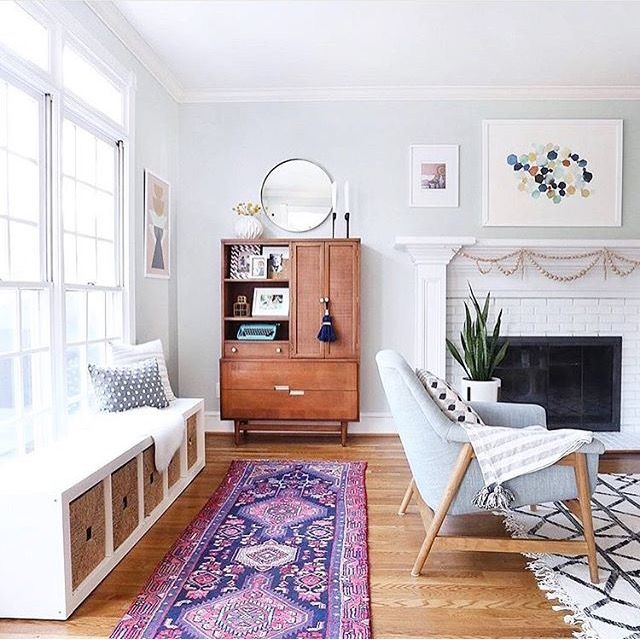 That rug! The pop of purple makes everything in the space stand out