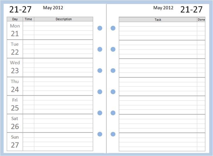 work journal template excel