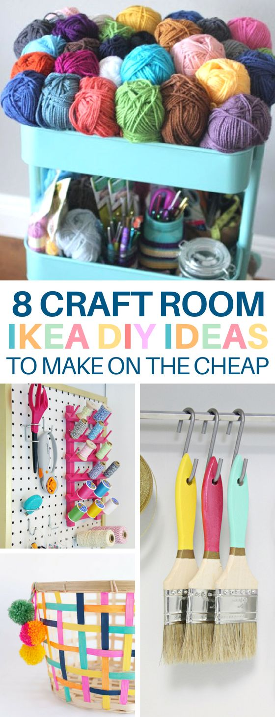 IKEA Craft Room DIYs That'll Organize on the Cheap