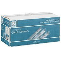 Bakers & Chefs Giant Wrapped Straws - 2,400 Ct. by Giant Straws. $40.85
