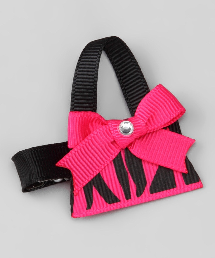 Hot Pink Zebra Purse Clip