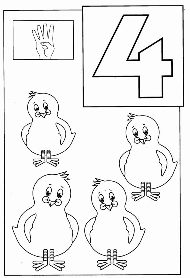 Number 4 Coloring Page Unique Get This Number 4 Coloring Page 4514a Printable Coloring Book Toddler Coloring Book Coloring Books