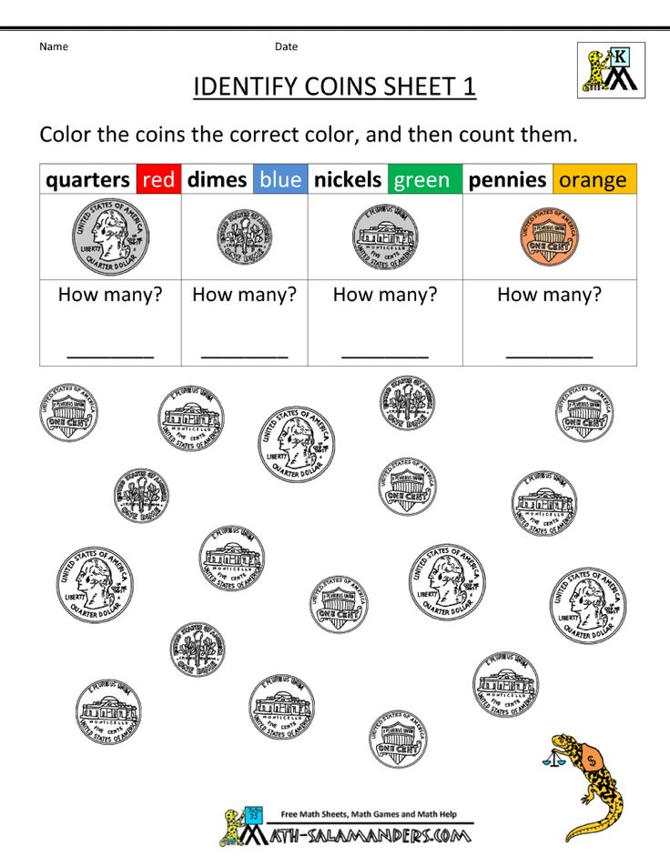 kindergarten printable worksheets identify coins 800 1035 kindergarten money. Black Bedroom Furniture Sets. Home Design Ideas