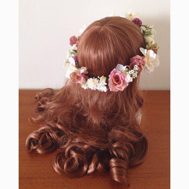 アンティークピンク&アイボリーの花冠♪ Ordermade Wedding Flower Item MY Flower http://ameblo.jp/eiferschtig/ お問い合わせ info@myflower-mayuko.com #wedding #flower #flowercrown #bride #はなかんむり #花嫁 #花冠 #結婚式準備 #プレ花嫁 #オーダーメイド #ヘッドドレス #カラードレス #ウェディングドレス #ブーケ #海外挙式 #リゾートウェディング #リゾ婚 #新郎新婦 #hawaii #hawaiiwedding #ハワイウェディング #バラ #ガーデンウェディング #お色直し #アンティークカラー #アンティーク風 #アンティークピンク #オーダー花冠 #手作り花冠 #大人婚 #オーダーメイド