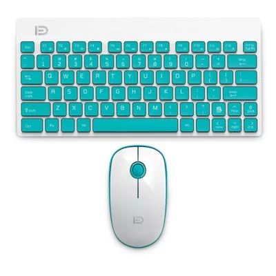 FUDE 1500 - $13.99 (coupon: GBFUDECOMBO)  Wireless Keyboard Mouse Combo with Ergonomic Design BLUE  #FUDE, #Keyboard, #Remote, #Mouse, #пульт, #клавиатура, #gearbest   2332