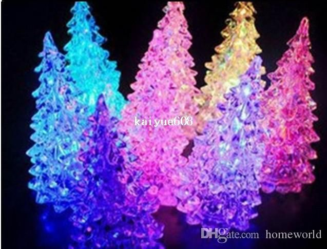 free shipping 5pcslot crystal new year christmas tree night lamp christmas decoration gift led night light halloween gifts