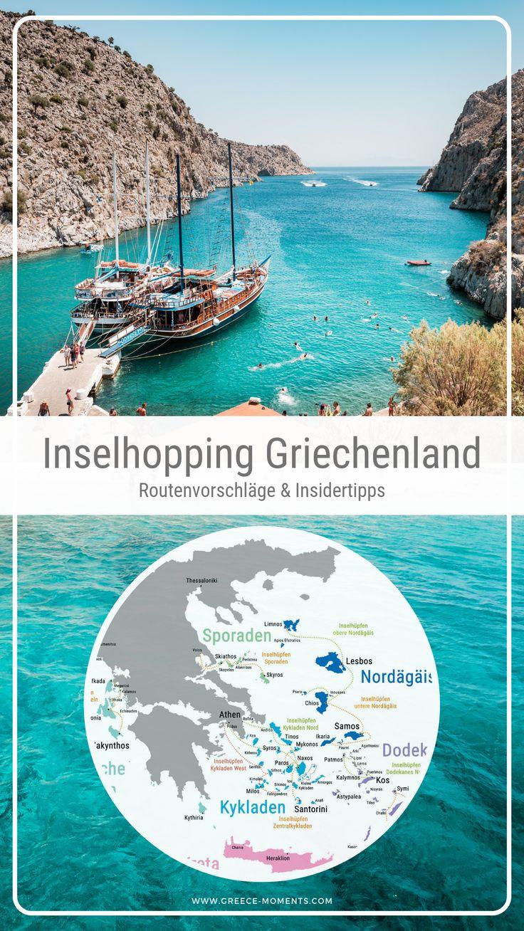 Inselhopping Griechenland • 9 Routenvorschläge für Deinen Urlaub