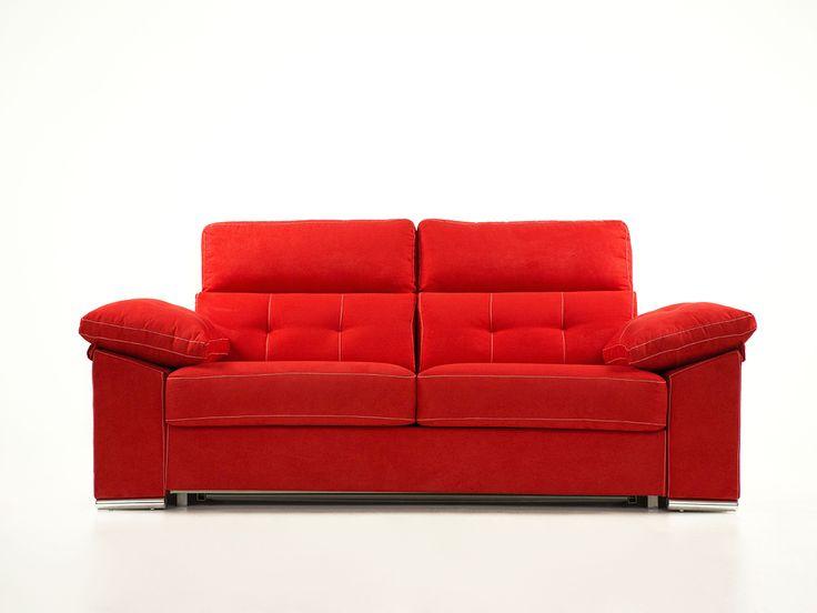 #sofa cama Afrodita con arcón en el brazo