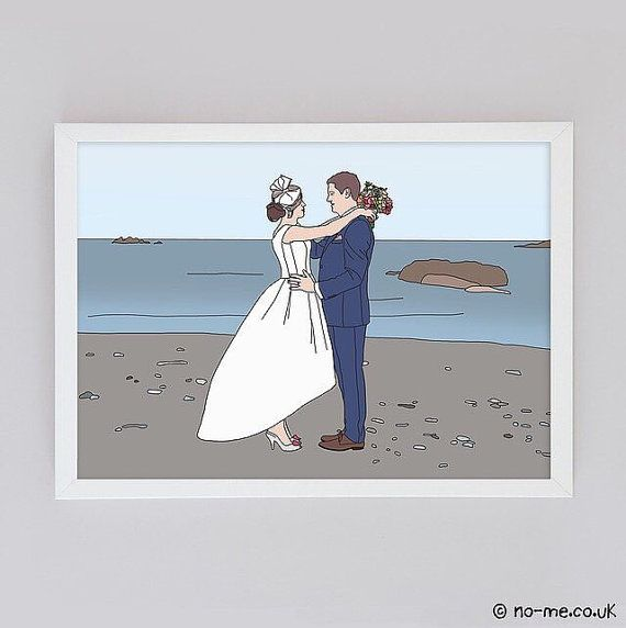 These illustrations are absolutely perfect as a completely bespoke anniversary or wedding gift. Transform a special moment into a personalised illustration