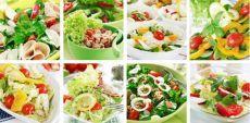 Салаты для похудения – рецепты     Салат для похудения «Свежесть» (из огурца)   Употребляйте этот салат в любых количествах - в нем настолько мало калорий, что он никак не может повредить организму. После приготовления салата оставьте его в холодильнике на 2часа.   Ингредиенты: огурец (2 шт), заменитель сахара (равный 15 граммам сахара), укроп (1 пучок), соль.   Способ приготовления   У свежего огурца очистить кожицу, нарезать тонкими кружочками, переложить в дуршлаг и хор...