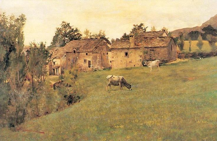 TELEMACO SIGNORINI - Pascolo a Pietramala - La Castellaccia (Fi) (1880-1890)