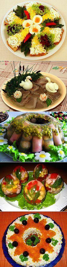 Праздничные блюда и оригинальные идеи их оформления! Просто но очень оригинально!.