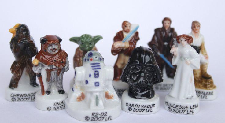 Star Wars- 9 fèves des gâteaux de Rois- Peint à la main- Version brillante/laqué- Miniatures collection- Fabophilie de la boutique SouvenirFrancais sur Etsy