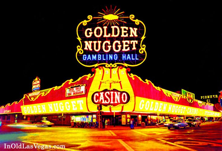 1960s Color Photo of the Golden Nugget Casino's Block Long ...