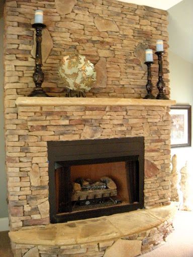 Fireplace idea-really like this as a focal point for later-would work with the kitchen cabinetry