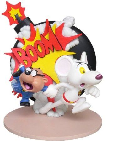 Danger Mouse and Penfold Explosion Resin Statue