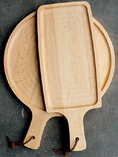 Handled Maple Serving Boards
