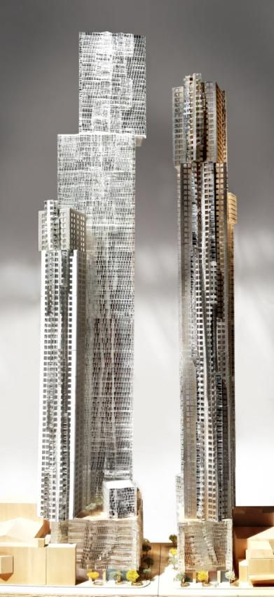 Mirvish Gehry condo coming soon at King St W & Simcoe St, Toronto.  It is the proposed building of 2 residential tower. Unit price going up to $10,000. Here investor have the opportunity to invest in this project. #MirvishGehry