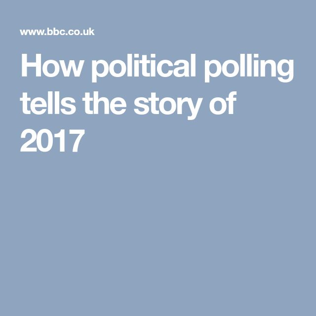 How political polling tells the story of 2017