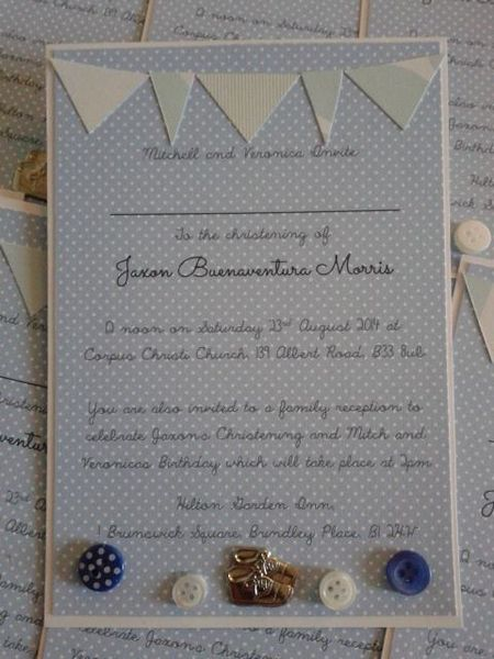 Bunting Christening/party/naming ceremony invitations Available Online To Buy From Buttercups Cards and Invites For A Great Deal On Bunting Christening/party/naming ceremony invitations Or Any Other Unique Handmade Craft Gifts And Creative Gift Ideas Visit Stallandcraftcollective.co.uk #373