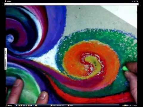 Oil Pastel Zen PART 2 - Rule of 3's - YouTube